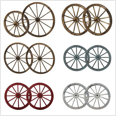 Wooden Wagon Wheel Wall Decor from i.ebayimg.com