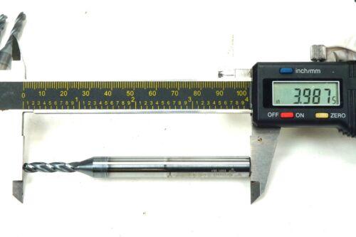 "2 Spiral Flute 3//16/"" Carbide End Mill Drill Bit 3//8/"" Shank MC Carbide Tool Co"