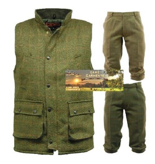 Men's Derby Game Tweed Gilet or Breeks   Breeches   Trousers. Shooting & Beating