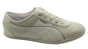 Crema Mujer Lux Zapatos Cuero Zapatillas Puma De 353948 Whitley Bajos Cordones gHw4aq8