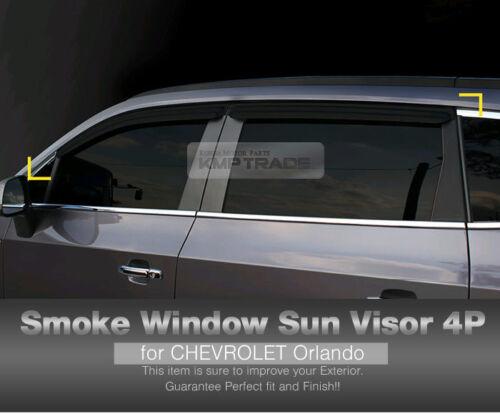 Smoke Window Vent Visors Side Mirror Rain Guard 6P For CHEVROLET 2010-17 Orlando