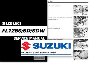 suzuki fl125 address workshop service shop manual fl125s fl125sd rh ebay co uk suzuki address v125g service manual suzuki address 100 service manual download