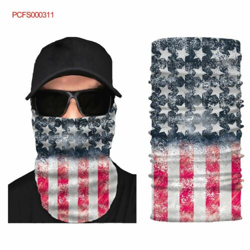 US Printing Face Shield Sun Mask Gaiter Balaclava Neckerchief Headband UV #9712