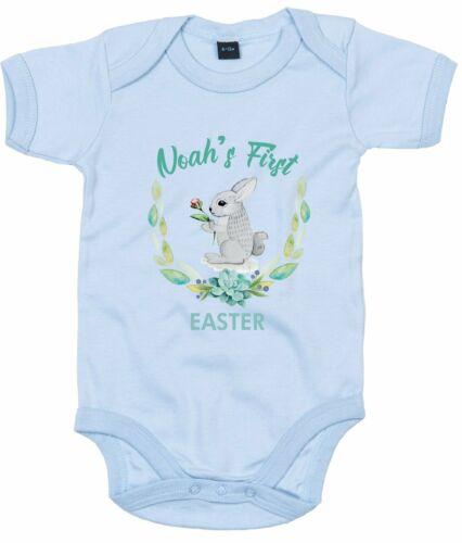 Custom Name First Easter Blue Bunny Baby Grow With Baby Name First Easter Novel