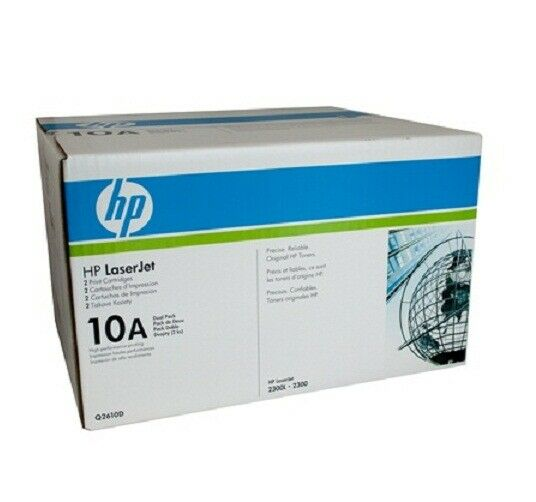 HP GENUINE 10A Q2610D LaserJet Toner Cartridges Dual Pack Yield 2 x 6,000 Pages