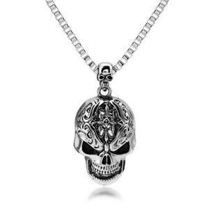 collier rock homme