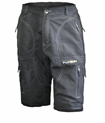 FUNKIER Men/'s 10 Panel bicycling Shorts Black S105-D1