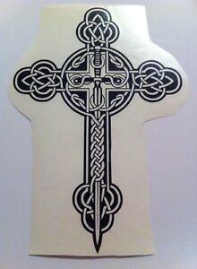 Celtic Cross Vinyl Decal Sticker Multicolor Sword Shield