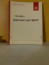 General Radio Type 1652 A Resistance Limit Bridge Instruction Manual