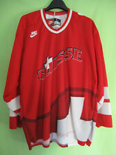 Maillot Hockey sur Glace Suisse Vintage Shirt Nike Ice Jersey - L