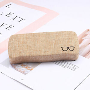 Linen-Texture-Glasses-Boxes-Square-Reading-Glasses-Flat-Glasses-Cases