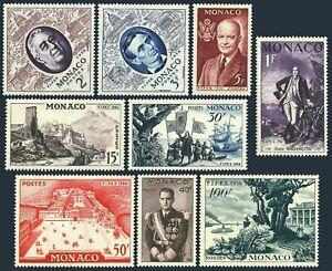 Monaco 354-362a,MNH.Michel 527-535. American Presidents,Columbus,Palace,1955