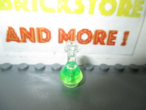 Lego 1x Utensil Bottle Erlenmeyer Flask Trans-Bright Green 93549pb01