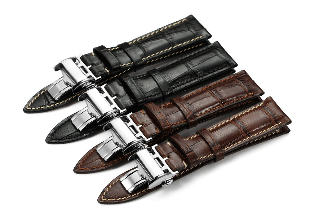20mm 21mm genuine calf leather watch band deployant strap for longines watch ebay for Longines leather strap