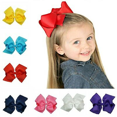8 Inch Baby Girl Bows Boutique Hair Clip Alligator Clips Grosgrain Ribbon Bow