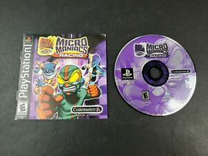 FoxKids-Micro-Maniacs-Racing-PlayStation-1-2000-PS1-Game-Disc-w-Manual
