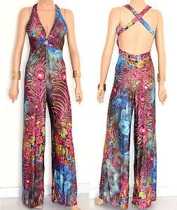 TUTA-donna-abito-pantalone-tutina-blu-rosa-vestito-intero-overall-jumpsuit-E128