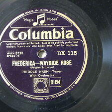 """78rpm 12"""" HEDDLE NASH frederica - wayside rose / oh maiden my maiden"""