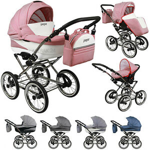 kombi kinderwagen 3in1 trend pepe classic retro style sportwagen buggy stroller ebay. Black Bedroom Furniture Sets. Home Design Ideas
