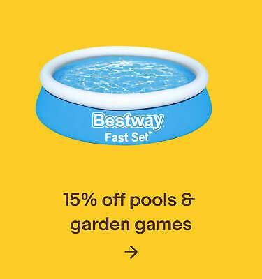 15% off pools & garden games