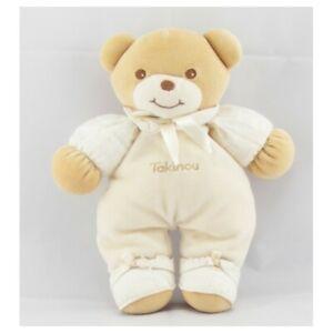 Doudou-ours-blanc-ecru-TAKINOU-Ours-Classique