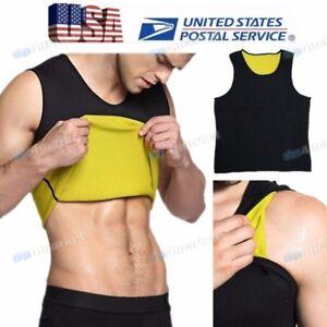 Men-039-s-Slimming-Body-Shaper-Belly-Underwear-Vest-Shirt-Corset-Compression-Trainer