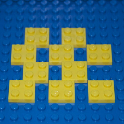 3022 NEW Various Colours LEGO: Pack of 10  2 X 2 Plate