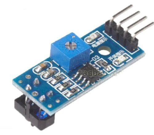 5 Infrarrojo Reflectante Switch Ir barrera línea Pista Sensor Tcrt5000 Nuevo