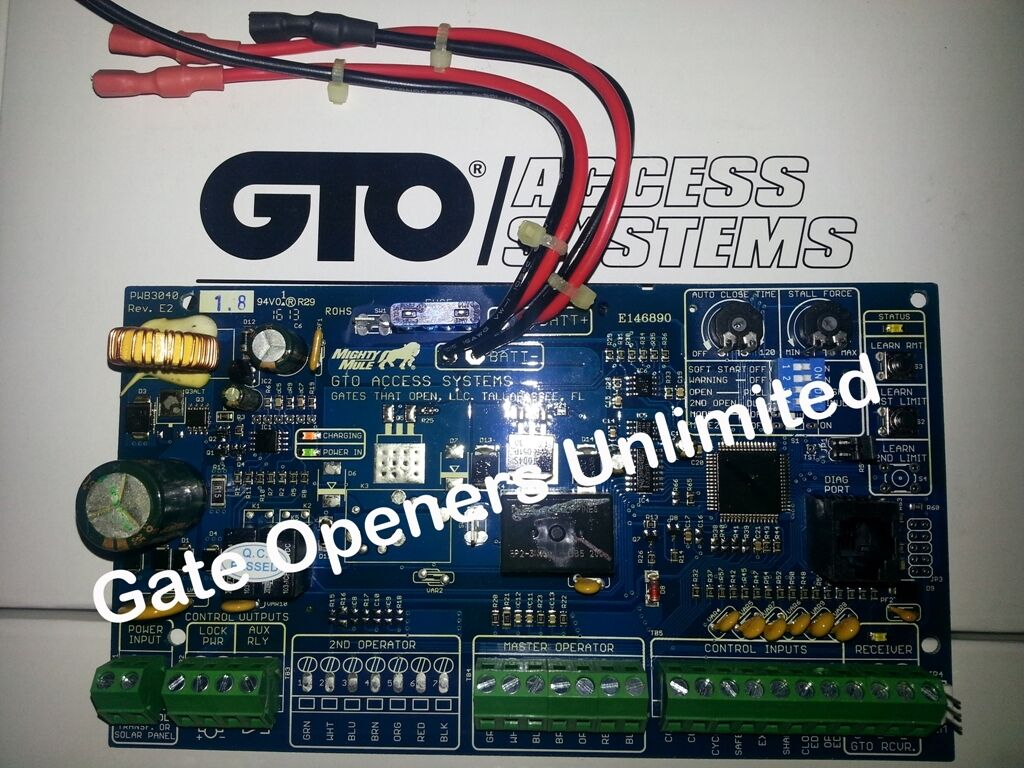 GTO & Mighty Mule FM500 Replacement Single Control Circuit Board Gate Operator