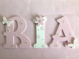 nursery cot wall door decor wooden letter new baby boy girl shower image is loading nursery