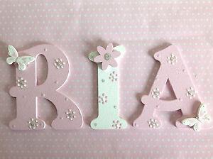 Lettere Di Legno Da Appendere : Stanza bebè culla porta parete decorazione lettera di legno ebay
