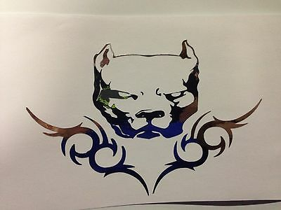 pit bull sticker pitbull american bully decal sticker CHROME