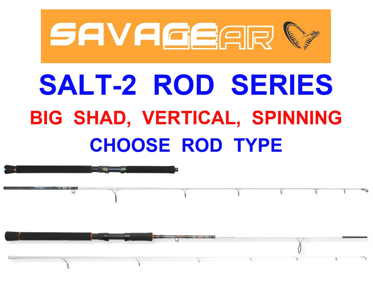 SAVAGE GEAR SALT2 ROD SERIES LURE SPINNING greenICAL DROP SHOT BIG SHAD COD BASS
