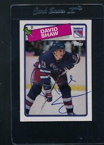1988/89 Topps #57 David Shaw Rangers Signed Auto *C9642