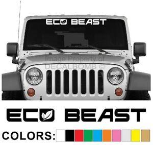 Eco-Beast-Windshield-Decal-Sticker-Diesel-Car-Truck-Low-Lift-Race-Hybrid-Plugin