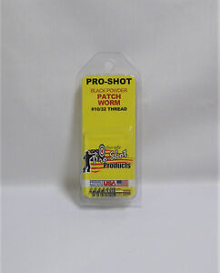 Black-Powder-Gun-Cleaning-Pro-Shot-Patch-Worm-Jag-USA-All-Calibers-Muzzleloader