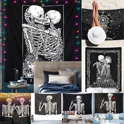 H1 Skull01 L Mandala Tapestry Wall Hanging Blanket Yoga Mat Bedroom Decor