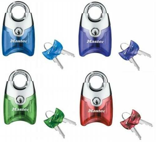 Assorted Colors Master Lock 192D Translucent Front Access Padlock Chrome