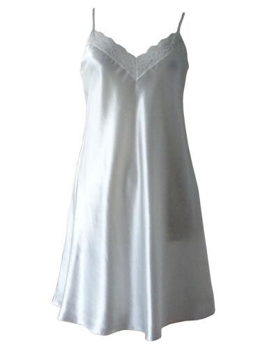 Petticoat Ladies Full Slip Underskirt  Ivory w// Brass Fittings Sizes 10 /& 14