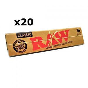 Raw Classique Taille Extra Large Fins 110mm Naturel non Raffiné Papier à Rouler