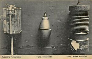 RUSSISCHE-HANDGRANATE-STINKBOMBE-LEICHTE-WURFMINE-WW1-MILITARY-PHOTO-POSTCARD