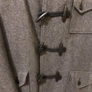 Schott-Wool-Hooded-Pea-Coat-size-L-Large