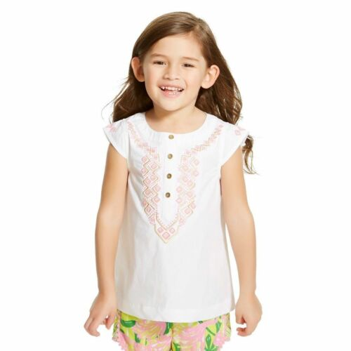 White New Lilly Pulitzer for Target Infant Toddler Girls/' Embroidered Top