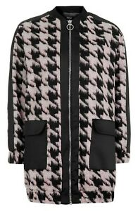 TOPSHOP-HOUNDSTOOTH-COAT-JACKET-SIZE-UK8-EUR36-US4