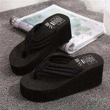 47d96a9f19fb item 6 Women Wedge Flip Flops Thick Platform High Heel Slippers Thong  Sandals Shoes -Women Wedge Flip Flops Thick Platform High Heel Slippers  Thong Sandals ...