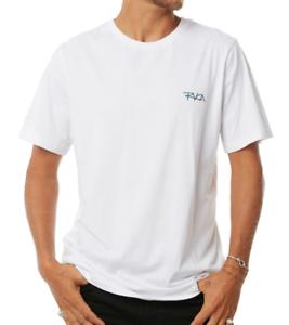 RRP $49.99. NWT Size L Men/'s RVCA Shakes White Surf Shirt // Tee