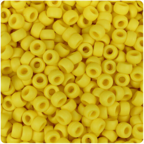 1000 Yellow Matte 7mm Mini Barrel Plastic Pony Beads Made in the USA