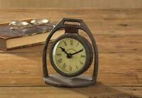 Rustic Iron Stirrup Table Top Clock By Park Designs