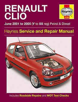 RENAULT Clio Riparazione Manuale Haynes WORKSHOP MANUALE DI SERVIZIO 2001-2005 4168