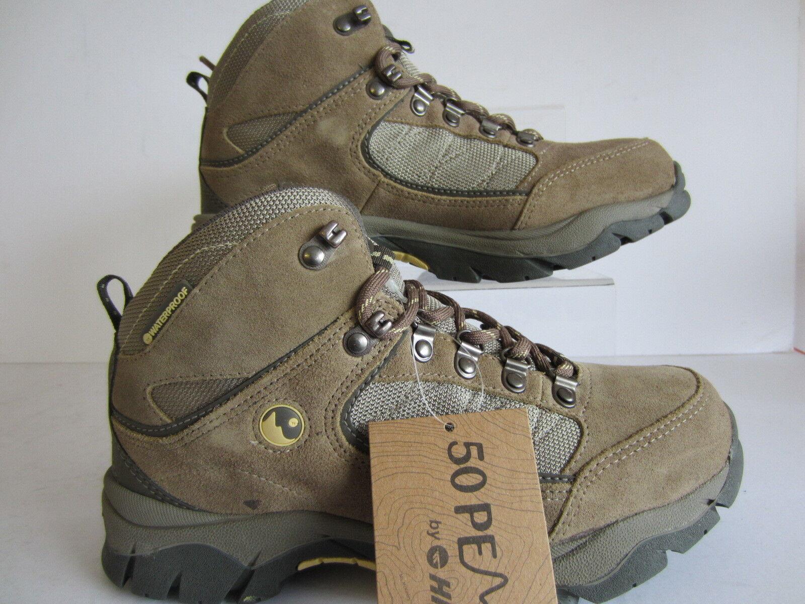Hi-Tec Ladies Hiking Boot (Denali WP) Clay Taupe golden Haze X 8  (GO)